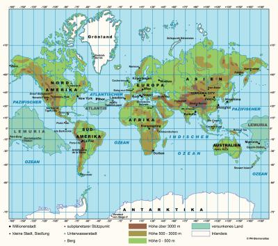 mapa atlantida y lemuria