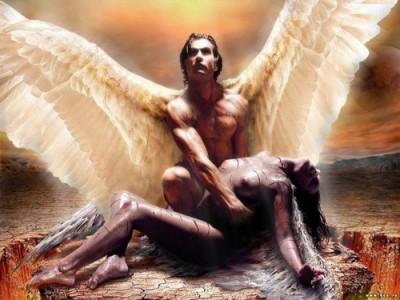 ángel y humana - génesis
